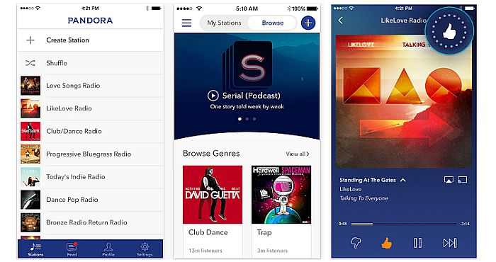 Pandora for iPhone