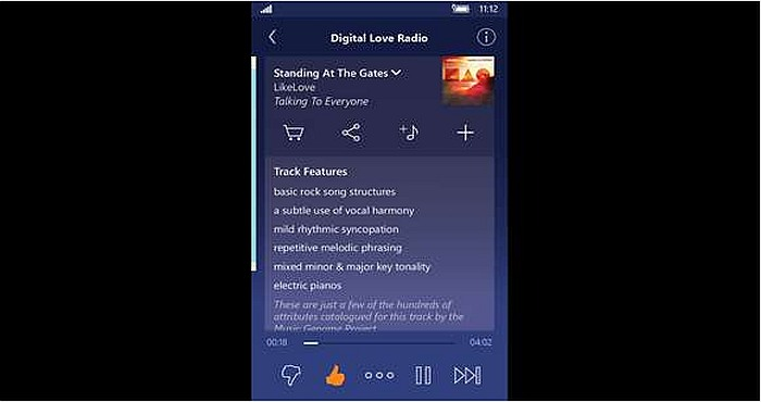 Pandora for Windows Phone